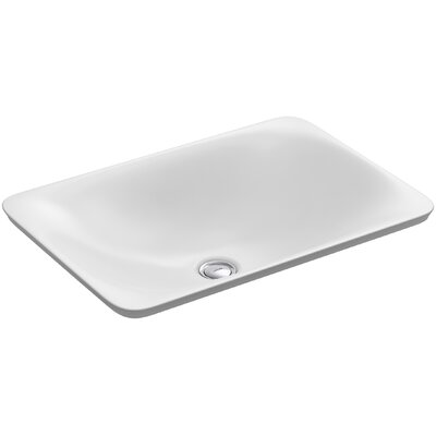 Carillon Wading Pool Rectangular Vessel Bathroom Sink Finish: White