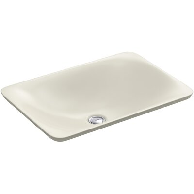 Carillon Wading Pool Rectangular Vessel Bathroom Sink Finish: Biscuit