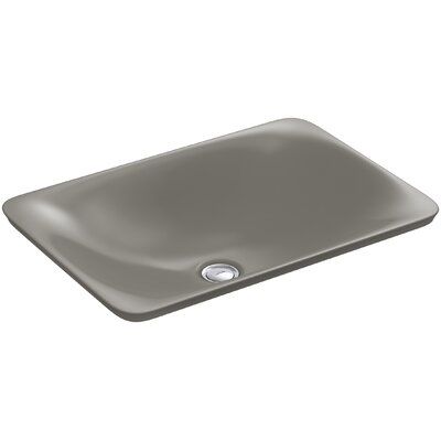 Carillon Wading Pool Rectangular Vessel Bathroom Sink Finish: Cashmere
