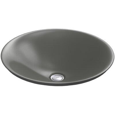 Carillon Ceramic Circular Vessel Bathroom Sink Finish: Thunder Grey