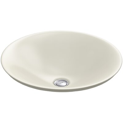 Carillon Wading Pool Circular Vessel Bathroom Sink Finish: Biscuit