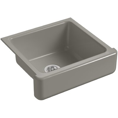 Whitehaven Self-Trimming 23-1/2 x 21-9/16 x 9-5/8 Under-Mount Single-Bowl Sink with Short Apron Finish: Cashmere