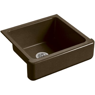Whitehaven Self-Trimming 23-1/2 x 21-9/16 x 9-5/8 Under-Mount Single-Bowl Sink with Short Apron Finish: Black n Tan