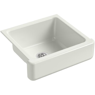 Whitehaven Self-Trimming 23-1/2 x 21-9/16 x 9-5/8 Under-Mount Single-Bowl Sink with Short Apron Finish: Dune