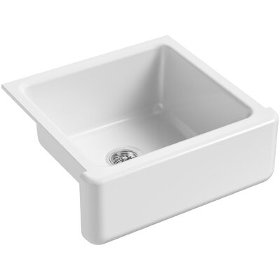 Whitehaven Self-Trimming 23-11/16 x 21-9/16 x 9-5/8 Under-Mount Single-Bowl Sink with Tall Apron Finish: White