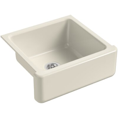 Whitehaven Self-Trimming 23-11/16 x 21-9/16 x 9-5/8 Under-Mount Single-Bowl Sink with Tall Apron Finish: Almond