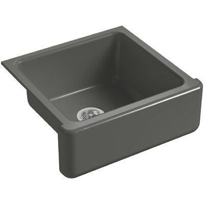 Whitehaven Self-Trimming 23-11/16 x 21-9/16 x 9-5/8 Under-Mount Single-Bowl Sink with Tall Apron Finish: Thunder Grey