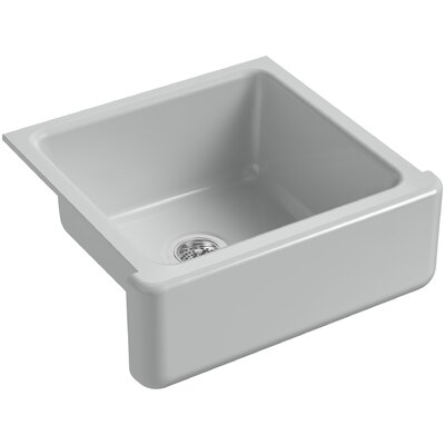 Whitehaven Self-Trimming 23-11/16 x 21-9/16 x 9-5/8 Under-Mount Single-Bowl Sink with Tall Apron Finish: Ice Grey