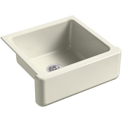 Whitehaven Self-Trimming 23-11/16 x 21-9/16 x 9-5/8 Under-Mount Single-Bowl Sink with Tall Apron Finish: Cane Sugar
