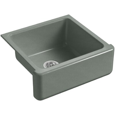 Whitehaven Self-Trimming 23-11/16 x 21-9/16 x 9-5/8 Under-Mount Single-Bowl Sink with Tall Apron Finish: Basalt