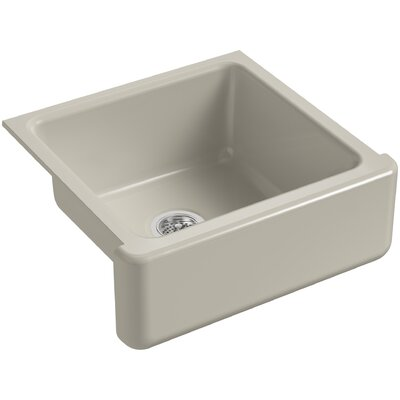 Whitehaven Self-Trimming 23-11/16 x 21-9/16 x 9-5/8 Under-Mount Single-Bowl Sink with Tall Apron Finish: Sandbar