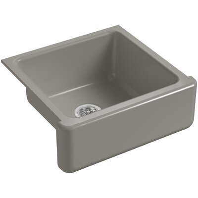 Whitehaven Self-Trimming 23-11/16 x 21-9/16 x 9-5/8 Under-Mount Single-Bowl Sink with Tall Apron Finish: Cashmere