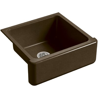 Whitehaven Self-Trimming 23-11/16 x 21-9/16 x 9-5/8 Under-Mount Single-Bowl Sink with Tall Apron Finish: Black n Tan