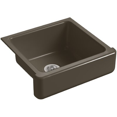 Whitehaven Self-Trimming 23-1/2 x 21-9/16 x 9-5/8 Under-Mount Single-Bowl Sink with Short Apron Finish: Suede