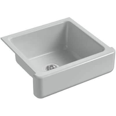 Whitehaven Self-Trimming 23-1/2 x 21-9/16 x 9-5/8 Under-Mount Single-Bowl Sink with Short Apron Finish: Ice Grey