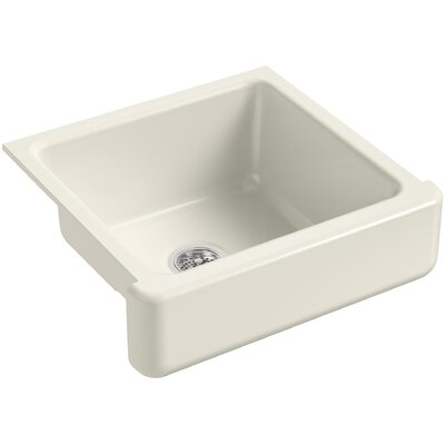 Whitehaven Self-Trimming 23-1/2 x 21-9/16 x 9-5/8 Under-Mount Single-Bowl Sink with Short Apron Finish: Biscuit