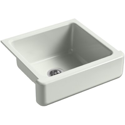 Whitehaven Self-Trimming 23-1/2 x 21-9/16 x 9-5/8 Under-Mount Single-Bowl Sink with Short Apron Finish: Sea Salt
