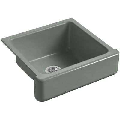 Whitehaven Self-Trimming 23-1/2 x 21-9/16 x 9-5/8 Under-Mount Single-Bowl Sink with Short Apron Finish: Basalt