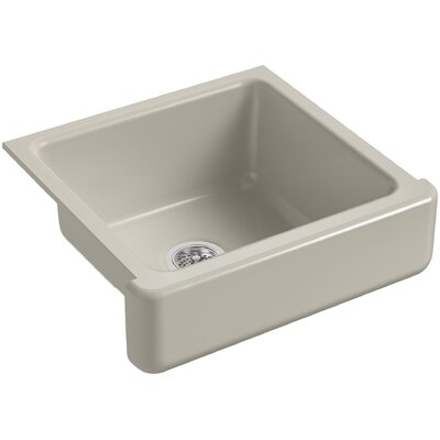 Whitehaven Self-Trimming 23-1/2 x 21-9/16 x 9-5/8 Under-Mount Single-Bowl Sink with Short Apron Finish: Sandbar