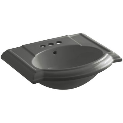 Devonshire 23 Pedestal Bathroom Sink Finish: Thunder Grey