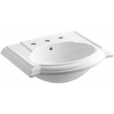 Devonshire 23 Pedestal Bathroom Sink Finish: White