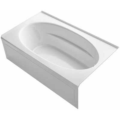Windward Alcove 72 x 42 Soaking Bathtub Finish: White