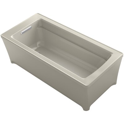 Archer 68 x 35 Soaking Bathtub with Music Finish: Sandbar