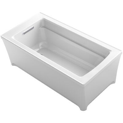 Archer 62 x 32 Soaking Bathtub with Music Finish: White