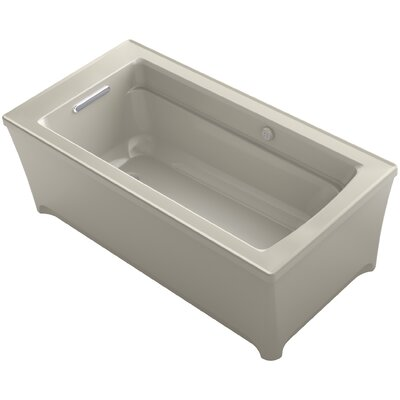 Archer 62 x 32 Soaking Bathtub with Bask Heated Surface and Music Finish: Sandbar