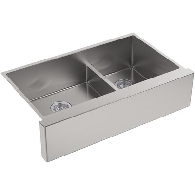 Strive 35.5 x 21.25 Self-Trimming SmartDivide Undermount Double-Bowl Kitchen Sink