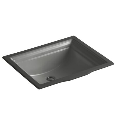 Memoirs Vitreous China Rectangular Undermount Bathroom Sink with Overflow Sink Finish: Thunder Grey
