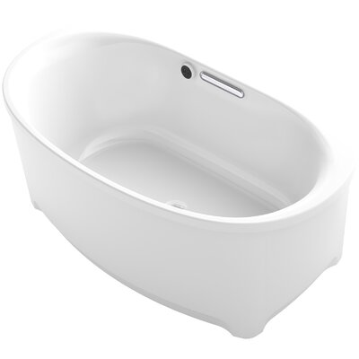 Underscore 60 x 36 Freestanding Soaking Bathtub Finish: White