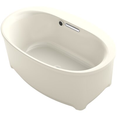 Underscore 60 x 36 Freestanding Soaking Bathtub Finish: Almond