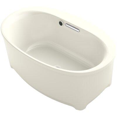 Underscore 60 x 36 Freestanding Soaking Bathtub Finish: Biscuit
