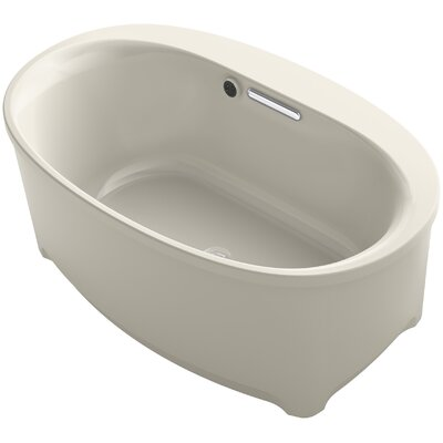 Underscore 60 x 36 Freestanding Soaking Bathtub Finish: Sandbar