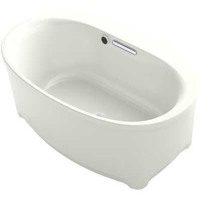 Underscore 60 x 36 Freestanding Soaking Bathtub Finish: Dune
