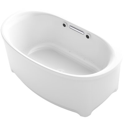 Underscore Oval Freestanding BubbleMassage� Air Bath Finish: White