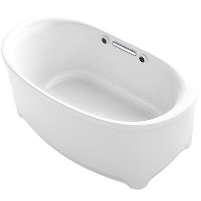 Underscore Oval Freestanding BubbleMassage Air Bath Finish: White