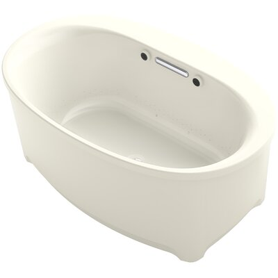 Underscore Oval Freestanding BubbleMassage� Air Bath Finish: Biscuit