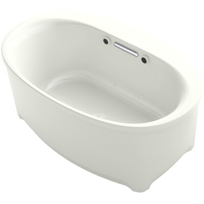 Underscore Oval Freestanding BubbleMassage� Air Bath Finish: Dune