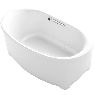 Underscore Oval Freestanding BubbleMassage� Air Bath with Bask Heated Surface Finish: White