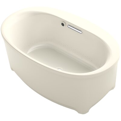 Underscore Oval Freestanding BubbleMassage� Air Bath with Bask Heated Surface Finish: Almond