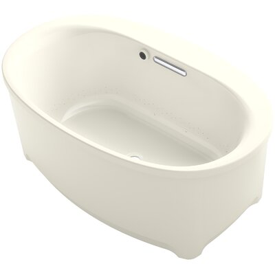 Underscore Oval Freestanding BubbleMassage� Air Bath with Bask Heated Surface Finish: Biscuit