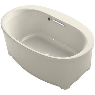 Underscore Oval Freestanding BubbleMassage Air Bath with Bask Heated Surface Finish: Sandbar
