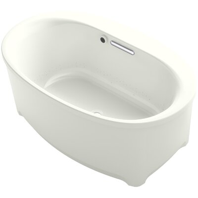 Underscore Oval Freestanding BubbleMassage Air Bath with Bask Heated Surface Finish: Dune