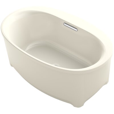 Underscore Oval Freestanding VibrAcoustic Bath with Bask� Heated Surface Finish: Almond