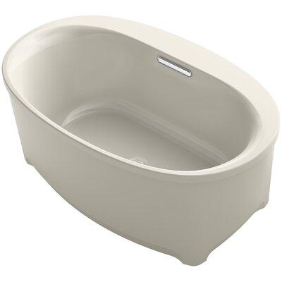 Underscore Oval Freestanding VibrAcoustic Bath with Bask Heated Surface Finish: Sandbar
