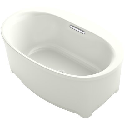Underscore Oval Freestanding VibrAcoustic Bath with Bask� Heated Surface Finish: Dune