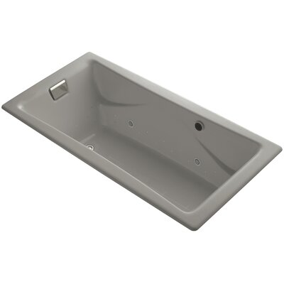 Tea-For-Two Bubblemassage 72 x 36 Whirpool Bathtub Finish: Cashmere, Jet Finish: Polished Nickel, With Chromatherapy Lights: No