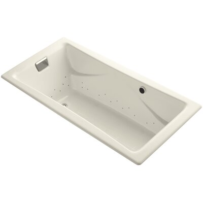 Tea-For-Two Bubblemassage 72 x 36 Whirpool Bathtub Finish: Almond, Jet Finish: Polished Nickel, With Chromatherapy Lights: No